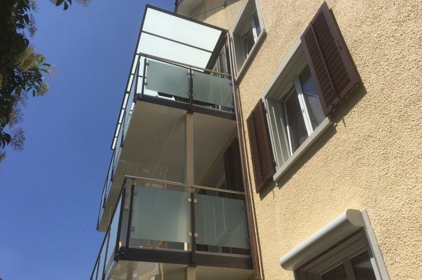 MetallDesign Balkonanbau Fassade
