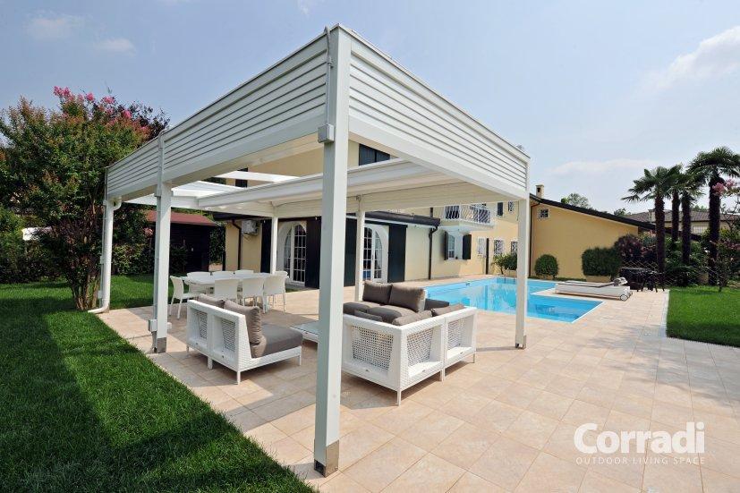 Vordächer, Sonnenschutz, Beschattungen, Corradi Pergotenda Maestro