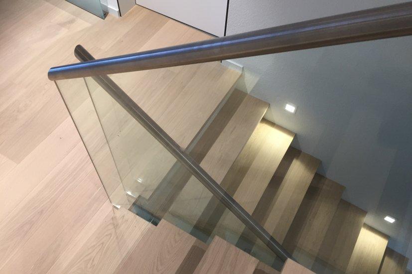 Ganzglas Treppengeländer