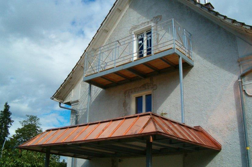 Balkonanbau Kupferdach